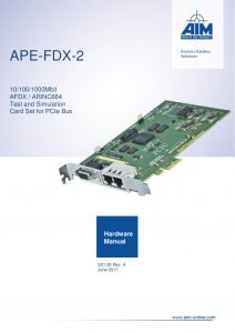 APE-FDX-2 Hardware Manual