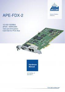 APE-FDX-2 Hardware Manual