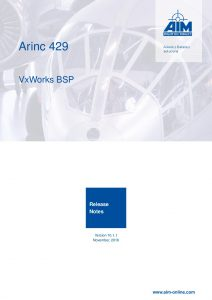 ARINC429 VxWorks Release Notes