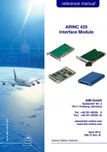 ARINC429 Reference Manual BSP 9
