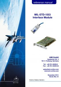 MIL-STD-1553 Reference Manual BSP 11