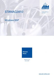 STANAG3910 Windows Release Notes