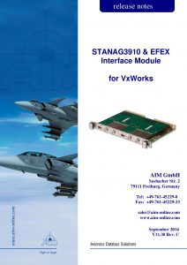 STANAG3910 VxWorks Release Notes