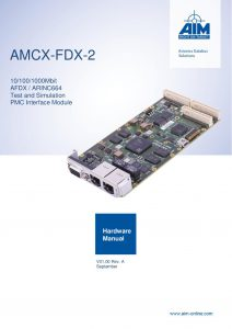 AMCX-FDX-2 Hardware Manual