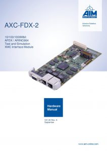 AXC-FDX-2 Hardware Manual