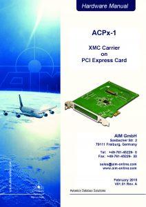 ACPx-1 Hardware Manual