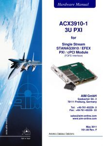 ACX3910 Hardware Manual