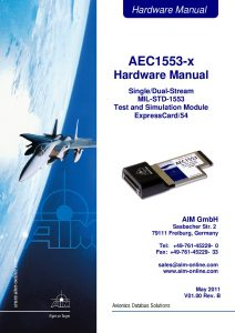 AEC1553 Hardware Manual