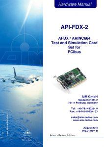 API-FDX-2 Hardware Manual