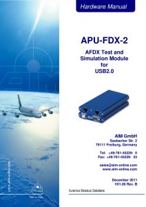APU-FDX-2 Hardware Manual