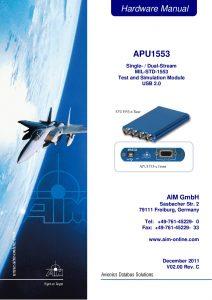 APU1553 Hardware Manual