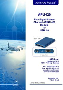 APU429 Hardware Manual