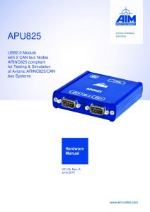 APU825 Hardware Manual