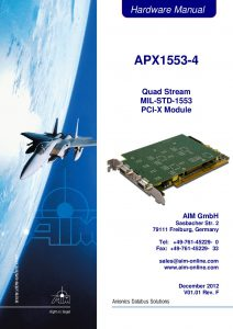 APX1553-4 Hardware Manual