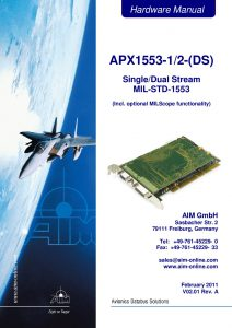 APX1553 Hardware Manual