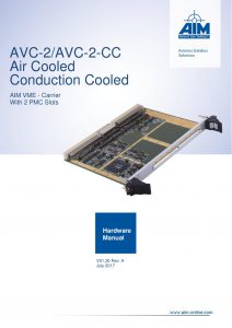 AVC-2 Hardware Manual