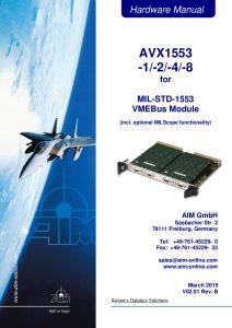 AVX1553 Hardware Manual