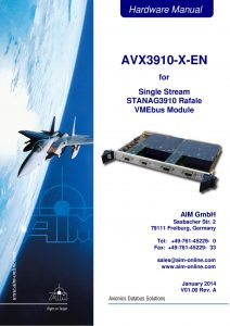 AVX3910-EN Hardware Manual