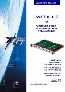 AVX3910 Hardware Manual