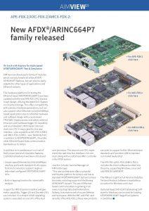 APE-FDX-2/AXC-FDX-2/AMC-FDX-2: new AFDX/ARINC664P7 family