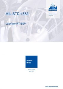 MIL-STD-1553 LabVIEW RT Release Notes