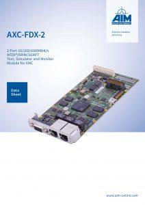 The new AFDX/ARINC 664P7 Datasheet AXC-FDX-2 - AIM Online