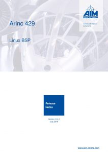 ARINC429 Linux Release Notes