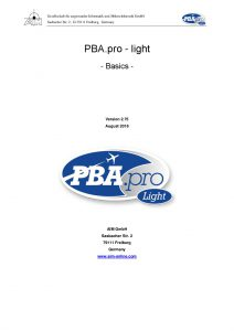 PBA.pro Light Basics