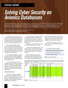 Cyber Security Testing on Avionics Databusses - AIM Online