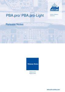 PBA.pro Release Notes