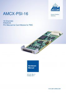 AMCX-PSI-16 Hardware Manual