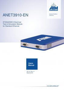 ANET3910-EN Users Manual