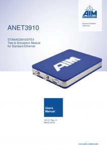 ANET3910 Users Manual