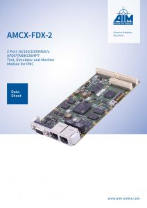 Cover Image of AMCX-FDX-2, AIM's AFDX/ARINC664P7 Module for PMC