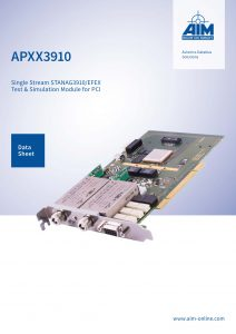 Cover Image of APXX3910 Datasheet for STANAG3910/EFEX Modules