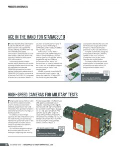 Image of the ACE-article written from AIM, published in Aerospace Testing International Magazine, Dec 2018 Issue