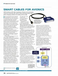 Smart Cables for Avionic