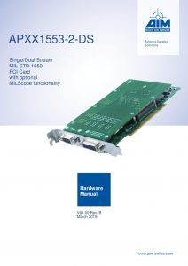 APXX1553-2-DS Hardware Manual