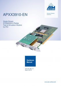 APXX3910-EN Hardware Manual