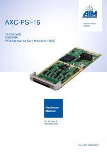 AXC-PSI-16 Hardware Manual