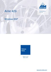 ARINC429 Windows Release Notes