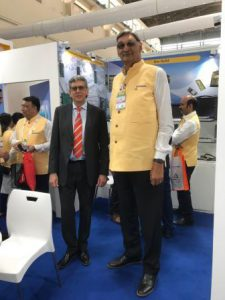 The tallest man at the AERO INDIA in Bengaluru