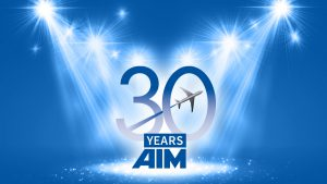 AIM 30-Years Logo for anniversary