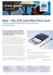 MIL-STD-1553 Mini-PCIe Card