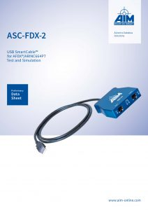 Picture of the new preliminary ASC-FDX-2 datasheet from AIM