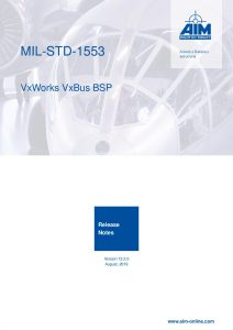 MIL-STD-1553 VxWorks 7.x VxBus Release Notes