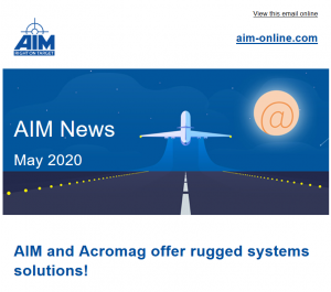 AIM E-Newsletter May 2020: AIM and Acromag offer rugged systems solutions