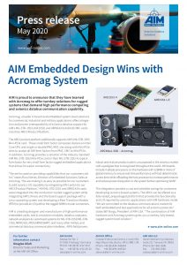 AIM and Acromag offer rugged systems solutions!