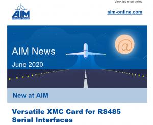 AIM E-Newsletter for June 2020 - RS485 Serial Interface
