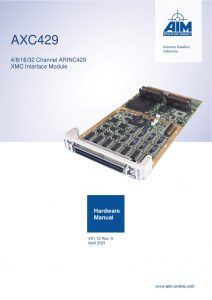 AXC429 Hardware Manual